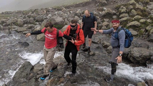 Man Completes Three Peaks Challenge Blindfolded