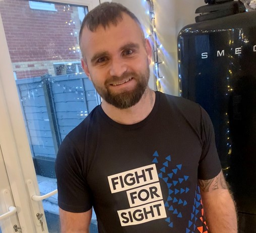 Poole man with sight loss raises over £4,250 for eye research after 250km challenge