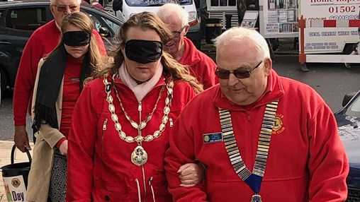 Observatory the Opticians Organises Blindfolded Walk