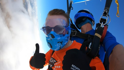 Teenager skydives in Salisbury to fund rare eye condition research