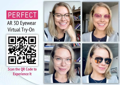 Perfect Corp. Launches Augmented Reality Virtual Try-On Service for 3D Eyewear