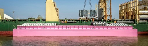 BNSF Logistics Works With Ceres Barge and Big Hope 1 to Raise Cancer Awareness Moving Large Transformer