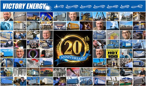 Victory Energy Celebrates 20th Anniversary