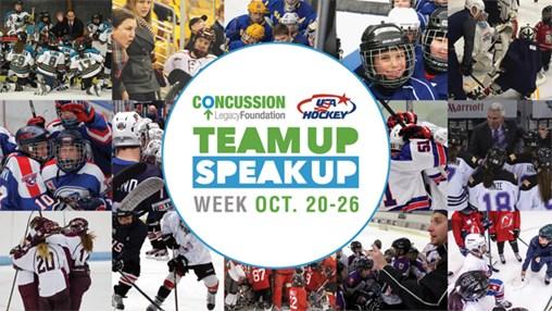 USA Hockey's Team up Speak up Week Begins Sunday