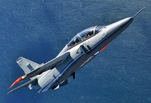 The M-345 is billed as having the capabilities of a jet trainer with the operating costs of a turboprop. (Leonardo)