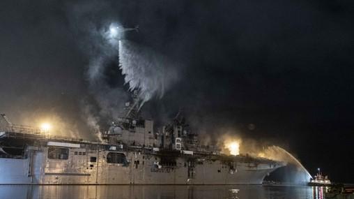 USS Bonhomme Richard fire emails raise questions about criminal charges