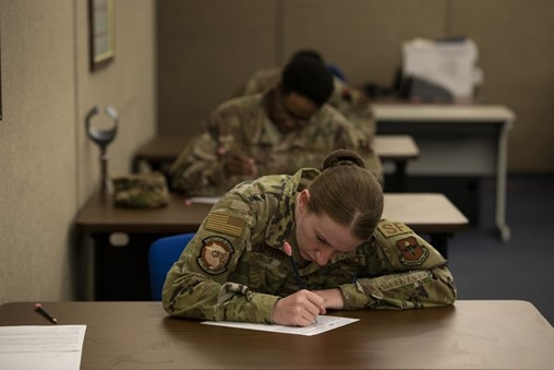 Enlisted airmen could soon take promotion tests online, leaders say
