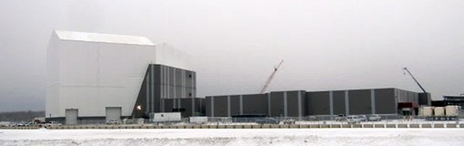 Construction of the structure that will house the Long Range Discrimination Radar is almost complete at Clear Air Force Station in Clear, Alaska.  Photo Courtesy Lockheed Martin