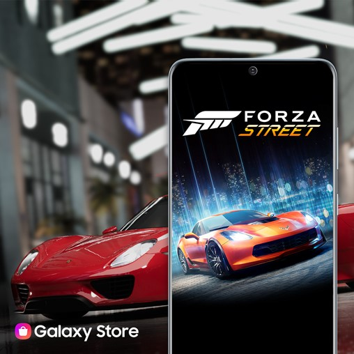 Later this spring, Microsoft will launch its popular Forza Street in the Galaxy Store, marking the first time the game is coming to mobile.