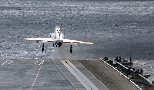 """General Atomics EMALS and AAG Systems Reach 4,492 """"Cats and Traps"""" Milestone Aboard CVN 78"""