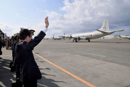 Two JMSDF P-3C Orion MPAs left Japan on 11 January to carry out intelligence-gathering operations in the Middle East aimed at helping ensure the safety of vessels conducting commercial operations with Japan. (Japan MoD)