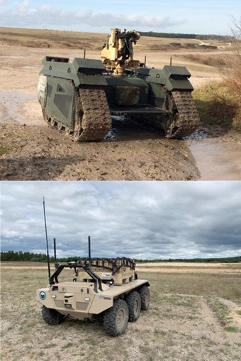 Dstl has ordered two Titan (above) and three Viking (below) UGVs. (Dstl)