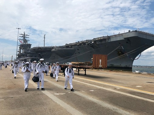 Eisenhower returns to Norfolk after double-pump deployment