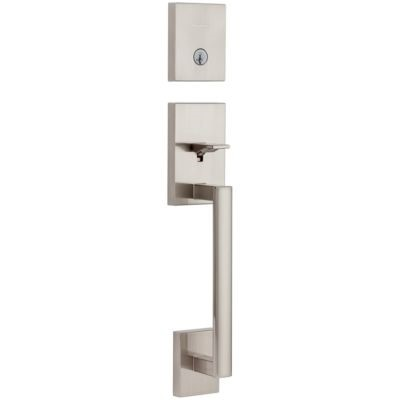 San Clemente Handleset - Deadbolt Keyed One Side (Exterior Only) - featuring SmartKey