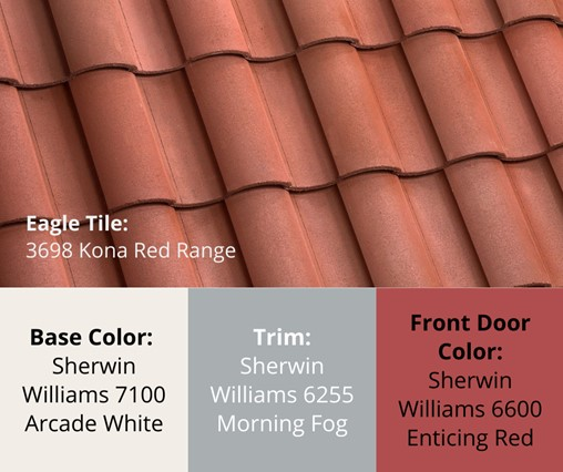 Vibrant Red Concrete Roof Tiles to Get into the Holiday Spirit