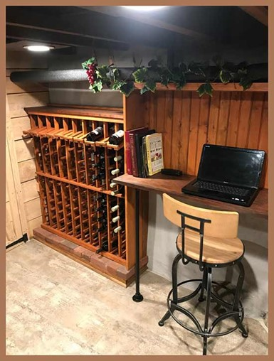 WineMaker racks made it a fun project for client!