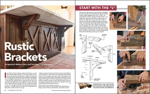 How to Design and Assemble Rustic Oak Kitchen Island Brackets