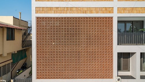 A terracotta jali screen is the cynosure of this Ahmedabad home