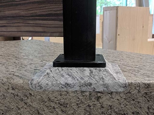 pedestal mounted railing post example