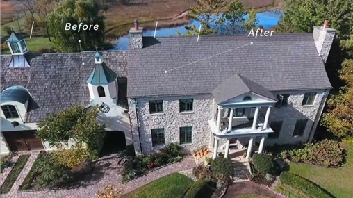 before and after brava shake roof replacement