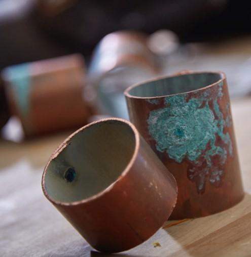 Aged Copper Pipe