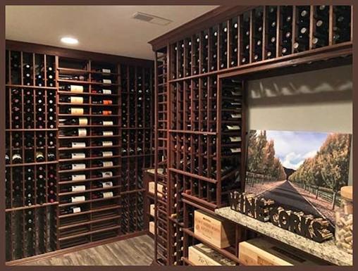 Dusting and polishing wine racks