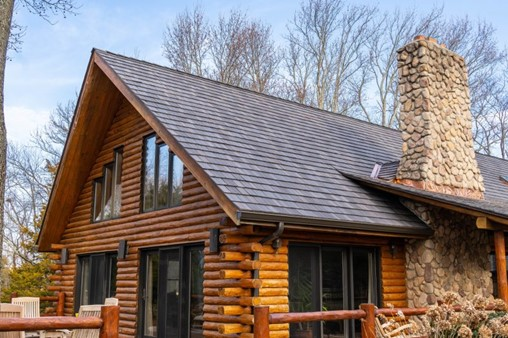 Synthetic Shakes Accent New Jersey Log Cabin