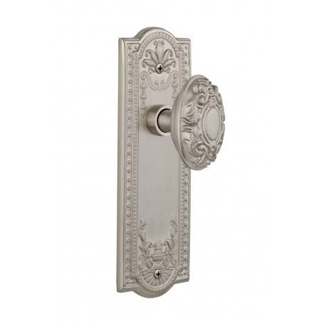 Details: Nostalgic MEAVIC 40 NK SN 238 Meadows Plate w/ Victorian Door Knob