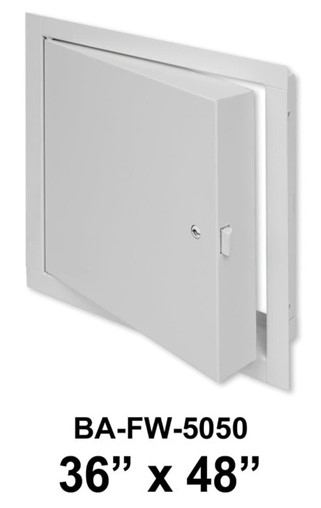 """36"""" x 48"""" Fire Rated Insulated Access Door with Flange"""