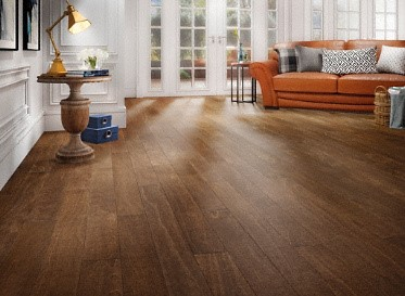 "Mayflower Engineered 3/8"" x 5"" Sepia Spanish Hickory Engineered Hardwood Flooring"