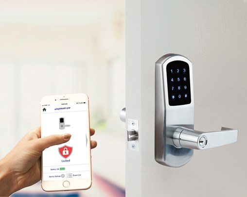PDQ's Stand-Alone Smart Lock Gives Users the Choice of Operating by Smart Phone, PIN Code, Smart Watch or Key
