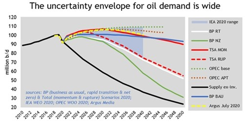 From the Economist's Chair: Energy outlooks offer divergent paths for oil demand