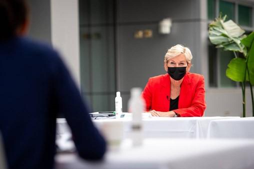 In Berkeley Visit, U.S. Energy Secretary Granholm Says U.S. Must 'Act With Urgency' to Reduce Planet-Warming Emissions