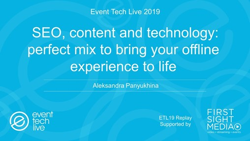 ETL Replay: Aleksandra Panyukhina Explains the Best Way to Market Your Event Online
