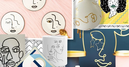 Interior design trend: must-buy home accessories inspired by abstract faces