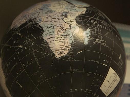 Bottom-half of dark globe