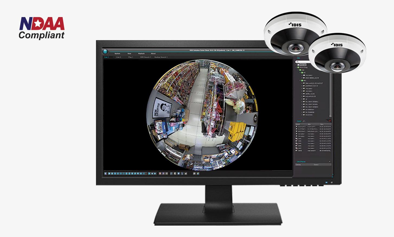 The new NDAA-compliant IDIS 12MP IR Super Fisheye camera is here