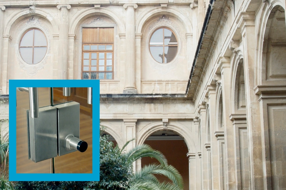 Old buildings equipped with new access control technologies