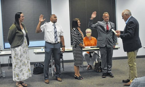 City council meets design-build team for wastewater plant project; new firefighters sworn in