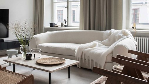 Ten peaceful Scandi living rooms that feature minimalist design and natural materials