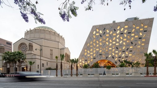 OMA designs Audrey Irmas Pavilion as extension to Jewish temple in Los Angeles