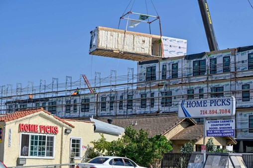 Pre-fab construction speeds up process of building homeless housing